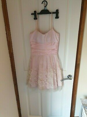 Pink Morgan & Co Skater Style Dress  Prom, Ball Gown, Pagent Weddingdress Size 8 • 20£