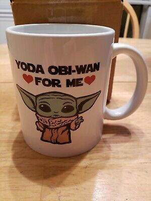 $12.99 • Buy Star Wars Mandalorian Baby Yoda Obi Wan For Me Mug