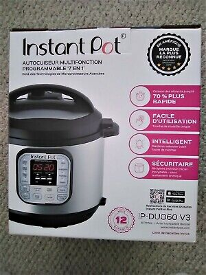 $60 • Buy INSTANT POT 7-in-1 MULTI USE PROGRAMMABLE 6 QT IP- DUO60 V3 PRESSURE COOKER