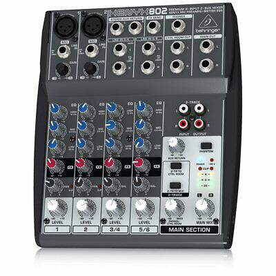 Mixer Clearance Studio Podcast Mixing Desk Cheap Sale Behringer XENYX 802 • 69.99£