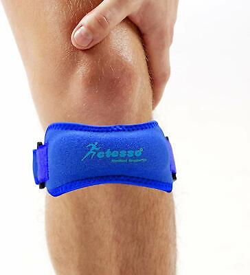 Actesso Blue Patella Knee Strap Support – Pain Relief- Runners Osgood Schlatter • 4.99£