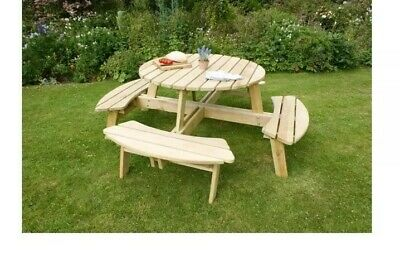 Rose Round 8 Seater Picnic Table - Zest Products • 365£