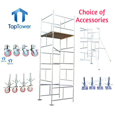 Scaffold Tower DIY 5.5m 4x4 X 18ft Working Height Galvanised Steel Towers • 364£