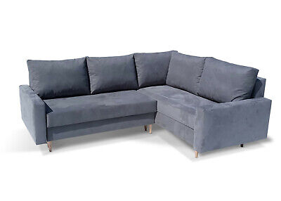 £489 • Buy Corner Sofa Bed Scandinavian Storage Sprung Seat Colours Choice FREE Assembly