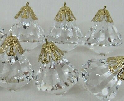 $11 • Buy 14 Acrylic Crystal Look Plastic Prism Christmas Ornaments 14 Victorian Style