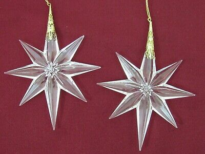 $5 • Buy 2 Acrylic Crystal Look Plastic Prism Christmas Ornaments STAR Victorian Style 5