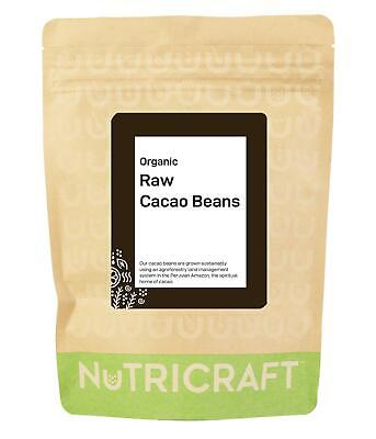 £15.95 • Buy 1kg Organic CACAO / COCOA BEANS By NUTRICRAFT™  - Raw Criollo From Peru