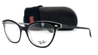 $69.95 • Buy Ray Ban RX5360 2034 Black 54mm Cats Eye Eyeglasses
