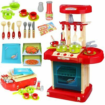 £19.99 • Buy Childrens Kids Kitchen Cooking Role Play Pretend Toy Cooker Game Set With Sound