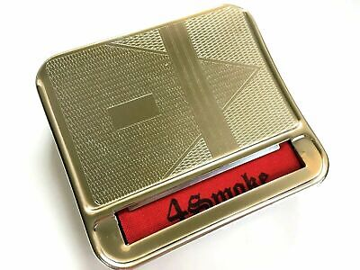 Automatic Rolling Machine Tobacco Case Tin  Roller Gold • 3.29£
