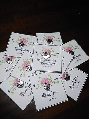 $5.95 • Buy 4 BRIDESMAIDS1 Maid Of Honor 1 Flower Girl  GiftCard  A Small Thank You Charm