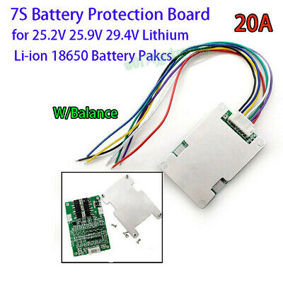 AU7.01 • Buy 7S 29.4V 15A BMS Protection Board W/ Balance For Li-ion Lithium Battery