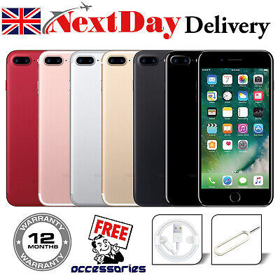 Apple IPhone 7 Plus 32GB 128GB 256GB Unlocked All Colours Sim Free Smartphone UK • 110£