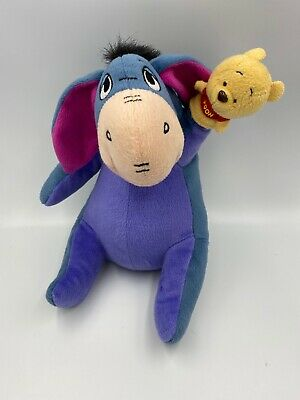 Disney Plush Eeyore From Winnie The Pooh With Puppet Collectible Soft Toy • 4£
