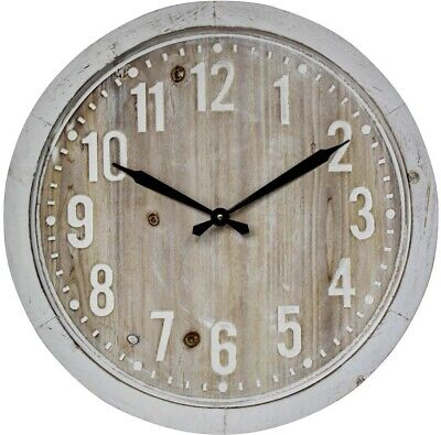 AU75 • Buy Hamptons White Wall Clock Large 60cm Framed Natural   Rustic Coastal Country