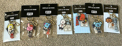 $15 • Buy OFFICIAL BTS BT21 Acrylic Key Ring After School Special Edition Keychain