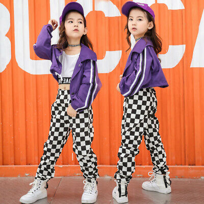 £15.47 • Buy Girls Street Dance Costume Hip Hop Jazz Dance Competition Performance Clothes