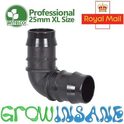 Antelco 25mm Double Barbed Elbow Connector ID Garden Irrigation Pipe Hose LDPE • 4.59£