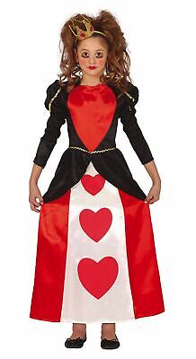 £8.99 • Buy Girls Queen Of Hearts Costume Wonderland Fairy Tale Fancy Dress Book Day Outfit