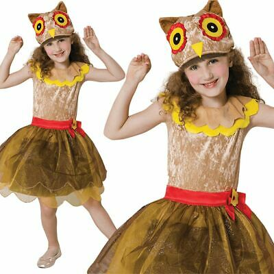 Kids Wise Owl Girl  Fancy Dress Book Week Animal Bird Outfit Costume • 12.99£