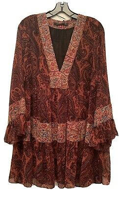 $49.95 • Buy ZARA NEW EMBROIDERED BOHO DRESS SIZE XL Made In Morocco