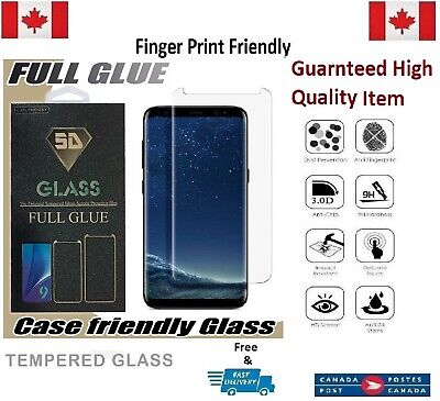$ CDN8.51 • Buy Full Glue Case Friendly Samsung Galaxy S8 Tempered Glass Screen Protector