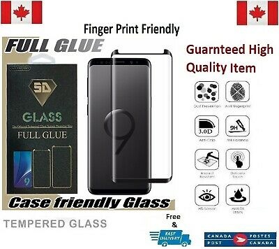 $ CDN8.51 • Buy Full Glue Tempered Glass Screen Protector For Samsung Galaxy S9 Clear