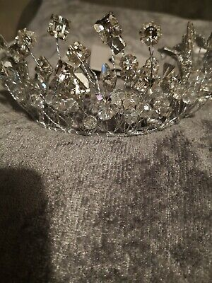 True Decadence Beautiful Silver Coloured Tiara Wedding Prom New With Tags Boxed  • 9.99£