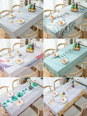 AU28.88 • Buy Dining Kitchen Easy Clean PVC Waterproof Oil Proof Table Cloth Ins Desk Cover