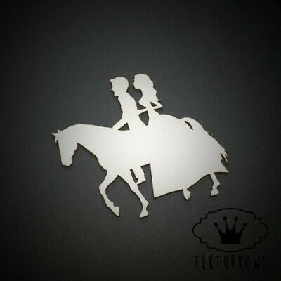 2x Couple Horse Wedding Love Chipboard Die Cut-out Wooden Craft Shapes Card Topp • 2.10£