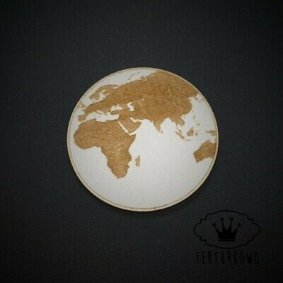 3x Earth World Chipboard Die Cut-out Wooden Craft Shapes Card Topper Shape • 2.40£