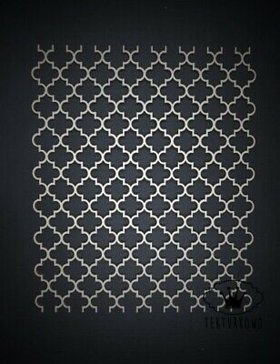 1x Moroccan Background Chipboard Die Cut Wooden Craft Shapes Cardmaking Topper  • 3.50£
