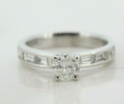 18ct White Gold 0.50ct Diamond Solitaire Engagement Ring (Size I 1/2) • 650£