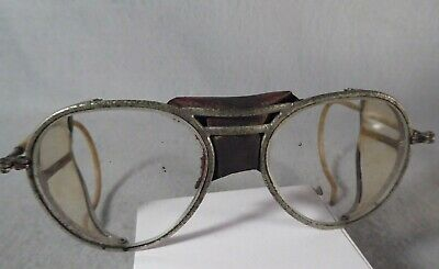 $29 • Buy Rare Antique Willson Safety Motorcycle Glasses Goggles Steampunk Metal Folding