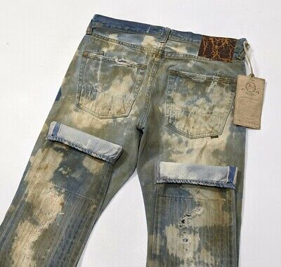 BNWT PRPS NOIR Selvedge Denim Destroyed Mens Jeans Rare Tapered W33 L34 RRP £675 • 349£