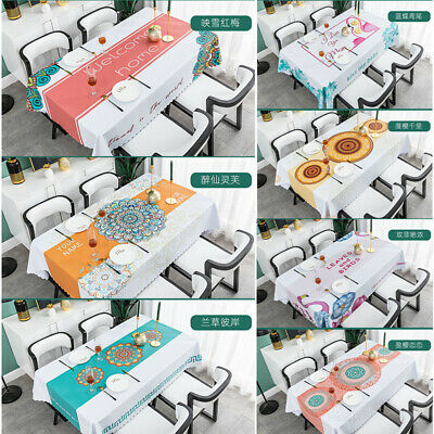 AU41.13 • Buy Dining-table Kitchen Easy Clean PVC Waterproof Table Cloth Desk Cover Mat