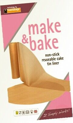Toastabags Cake Tin Non Stick Reusable Circle And Wall Liner. 7 Inch, 8 ... • 5.69£