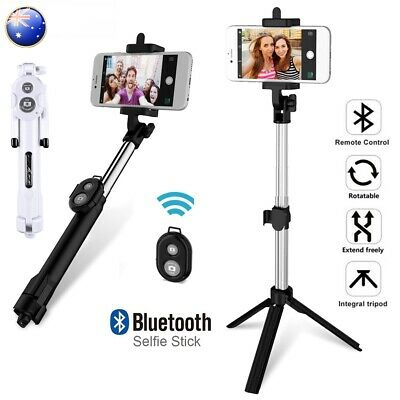 AU12.50 • Buy Universal Tripod Bluetooth Telescopic Handheld Selfie Stick Phone Holder Remote
