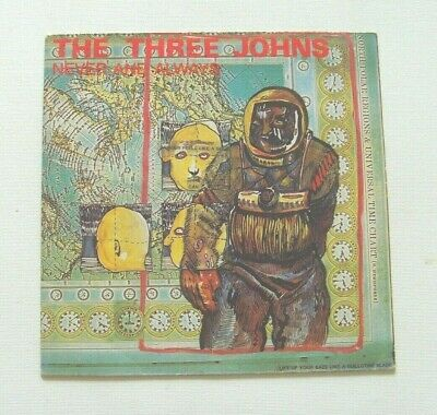 The Three Johns - Never And Always - 1987 ABSTRACT SOUNDS (VG+/EX) • 3£