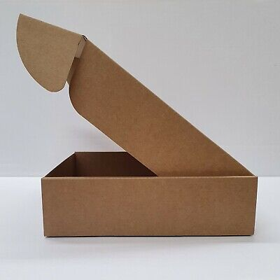 Cardboard Lidded Box Postage Postal Packaging Mail Small Parcel Gift 7.8x7.8x2.2 • 9.99£