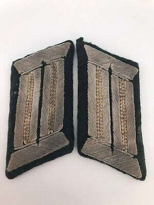 Original Ww2 German Army Infantry Officer Collar Tab Set • 50£
