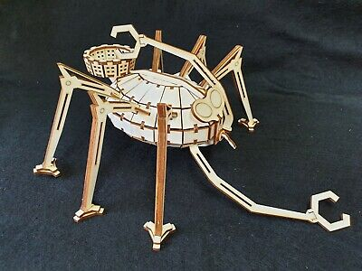 War Of The Worlds 'Ground Ship' By HG Wells Wooden Laser Cut Model/Puzzle Kit • 18.99£