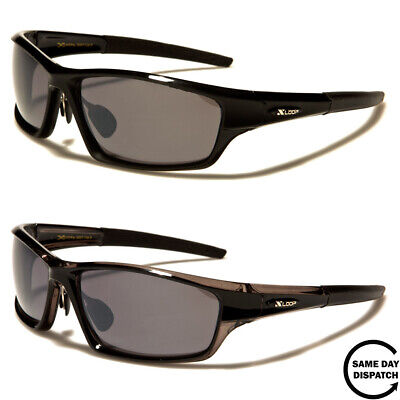 New Black X Loop Sport Running Wrap Around Mens Womens Unisex Sunglasses UV400 • 10.99£