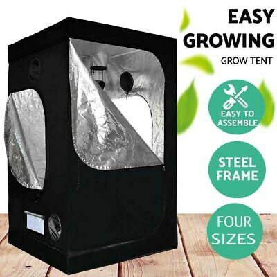 AU65.90 • Buy Black Indoor Grow Tent Kits Four Size Steel Frame Plant Tent Easy To Assemble