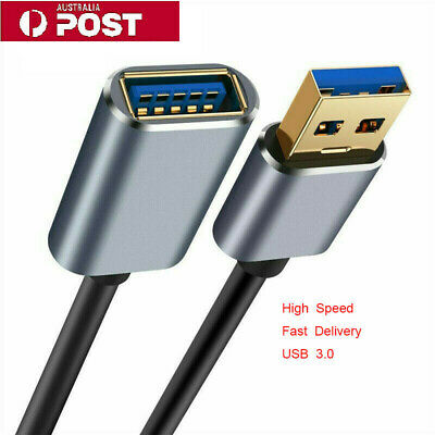 AU9.69 • Buy USB 3.0 Male To Female SuperSpeed Data Sync Fast Charging Extension Cable AU