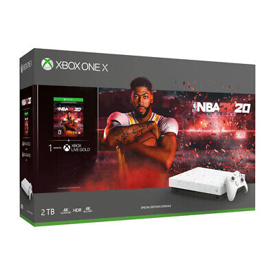 $499.98 • Buy Xbox One X 2TB SSHD Hyperspace Limited Edition,NBA 2K20 Bundle, Enhanced Storage