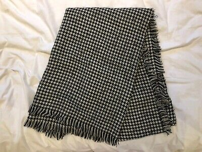 £24.99 • Buy Zara Large Dogtooth Houndstooth Black And White Scarf
