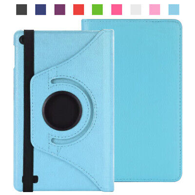 For Amazon Kindle Fire 8  HD 2018/2017 Case Smart 360 Swivel Leather Stand Cover • 6.26£