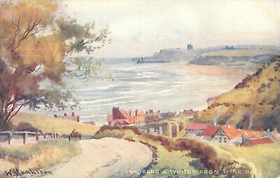 R308044 W. Manhison. Sandsend And Whitby From Lythe Bank. John T. Ross • 6.75£