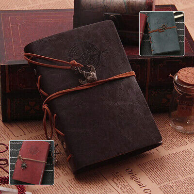 £5.29 • Buy Pirate Style Vintage Classic Retro Journal Travel Leather Notepad Notebook Diary